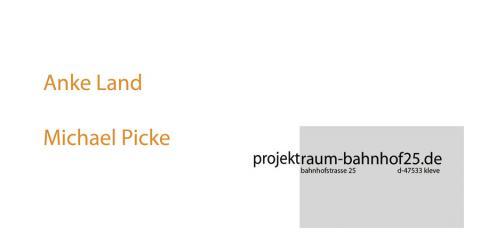 33. Ausstellungsprojekt, Kunstverein projektraum-bahnhof25.de, Kleve
